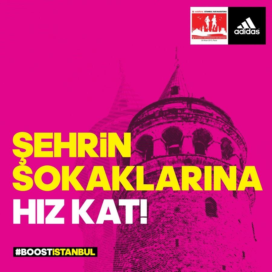 adidas, Vodafone İstanbul Yarı Maratonu'nun sponsoru