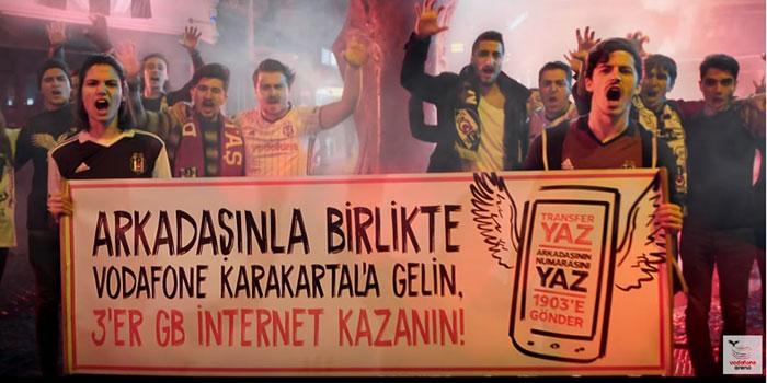 Vodafone Karakartal'ın yeni marşını Beşiktaşlı taraftarlar yazdı