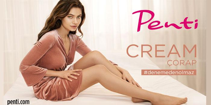 Penti'den krem dokusunda çorap: Cream 20 Denye
