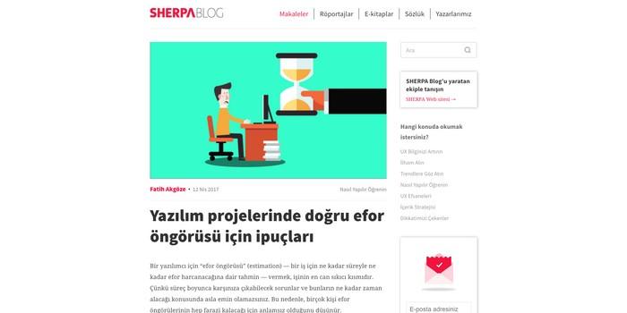 SHERPA Blog neyi hedefliyor?
