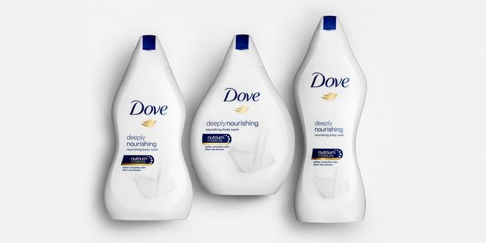 Dove duş jeli şişeleri tüm vücut formlarındaki kadın güzelliğini kucaklıyor