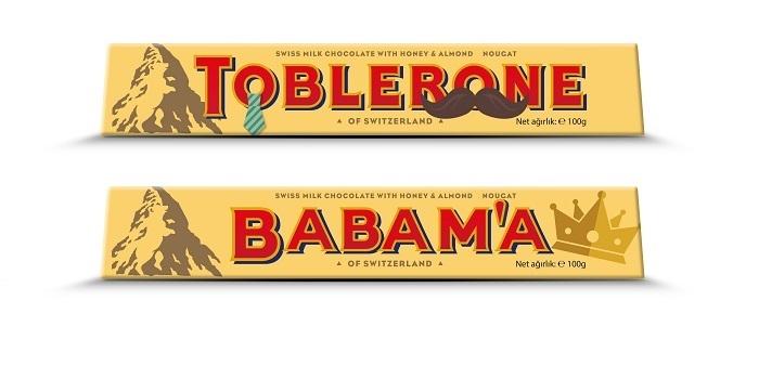 """Babalar Günü'ne özel """"bıyıklı"""" Toblerone'lar raflarda..."""