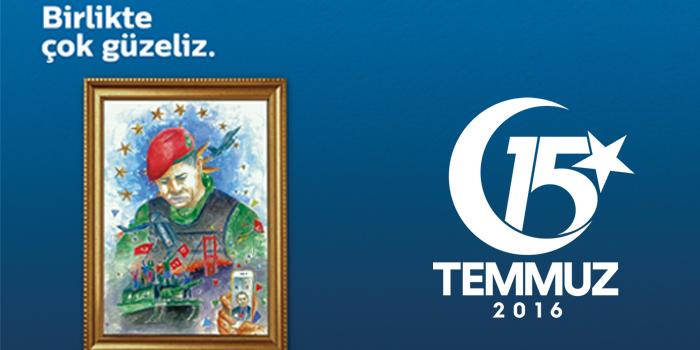 Türk Telekom 15 Temmuz'un resmini paylaştı