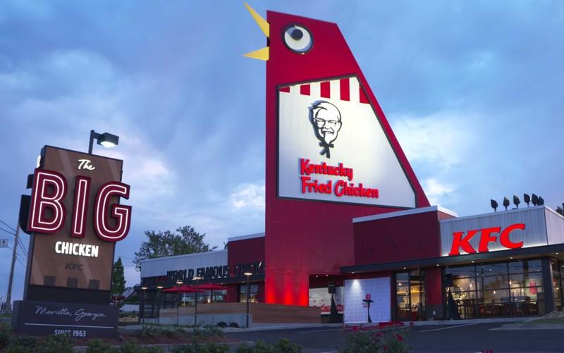 Restore edilen yeni KFC restoranı