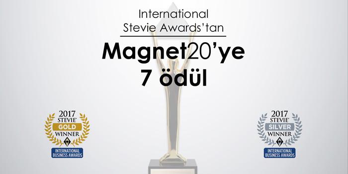 International Stevie Awards 2017'den, Magnet20'ye 7 Ödül!
