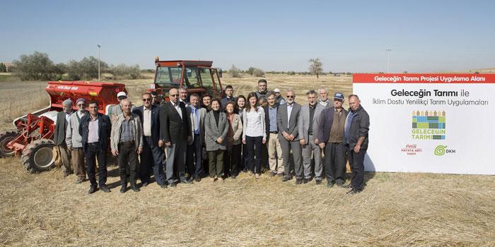 """Yenilikçi tarım uygulamaları """"Geleceğin Tarımı Projesi"""" ile Konya Havzası'nda"""