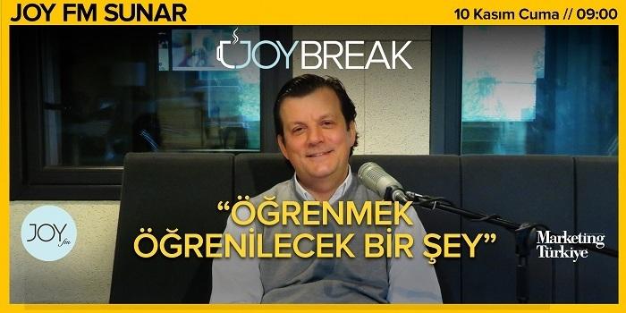 Joy Break'te Günseli Özen'in bu haftaki konuğu Häfele Turkey ve Bölge Ülkeler İcra Kurulu Başkanı Hilmi Uytun olacak…