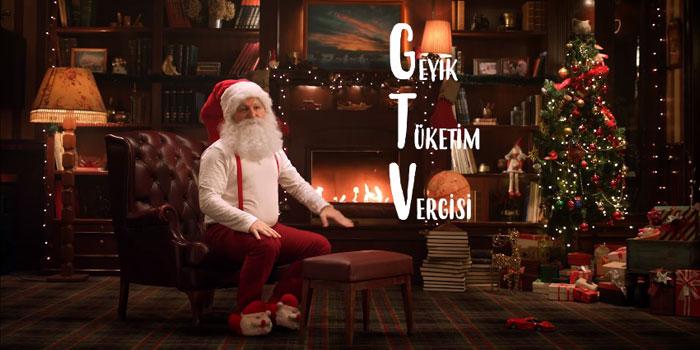 Noel Baba geyiği bırakıyor!