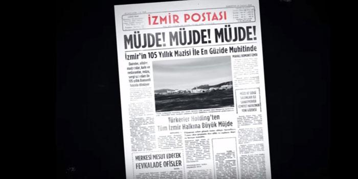 Mahal Bomonti İzmir'e tarihi reklam