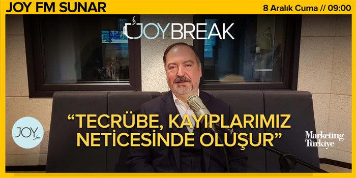 Joy Break'te Günseli Özen'in bu haftaki konuğu Pegasus Genel Müdürü Mehmet Nane...