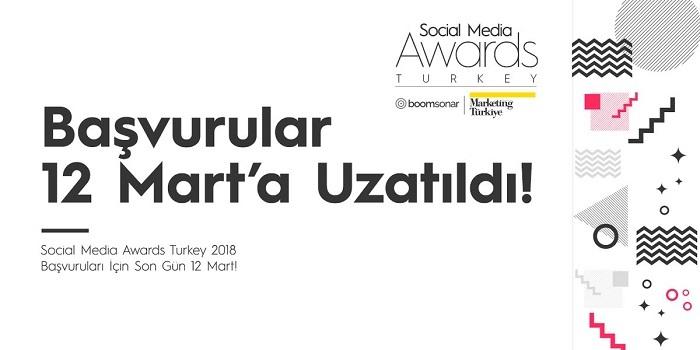 Social Media Awards Turkey Başvuruları 12 Mart'a Uzatıldı...