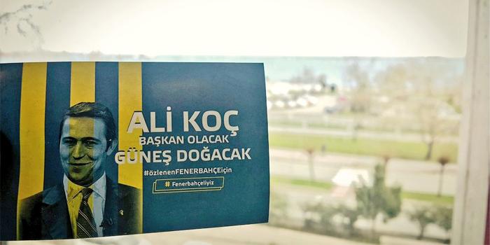 Fenerbahçe Başkan Adayı Ali Koç için yapılan yeni kampanyada sokağa inildi