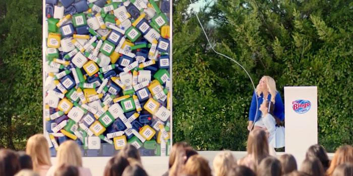 Bingo klorsuz çamaşır suyunu reklamla tanıttı