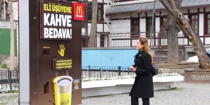 Elleriniz üşüyorsa McDonald's ısıtsın