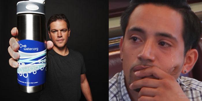 Matt Damon'dan ağlatan sosyal sorumluluk kampanyası