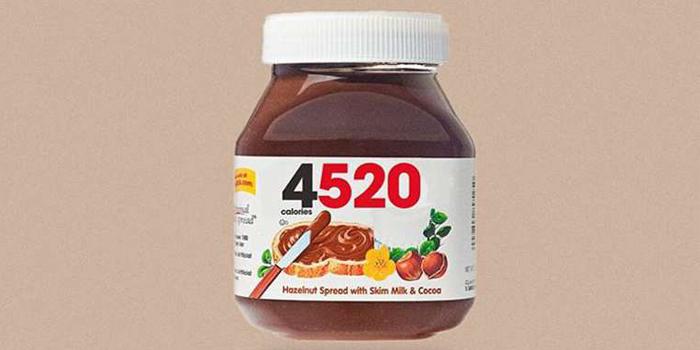 Marka logolarını içerdikleri kalorilerle değiştiren tasarımlar