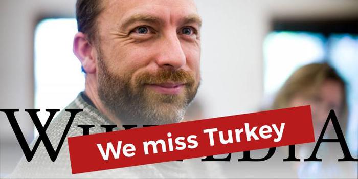 Wikipedia Türkiye'yi özlüyor