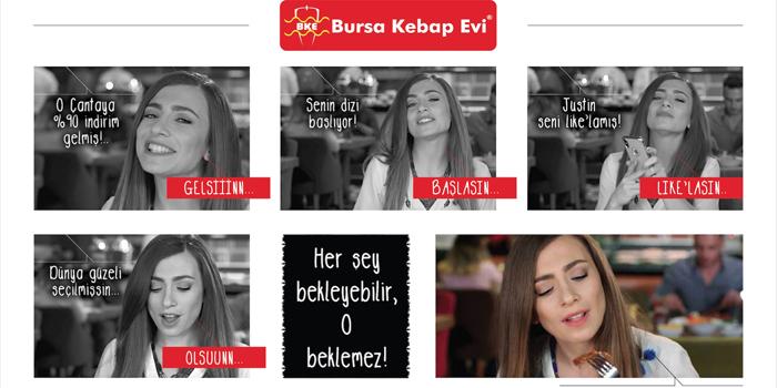 """Bursa Kebap Evi yeni reklam filminde """"Bitirmeden Asla"""" diyor"""