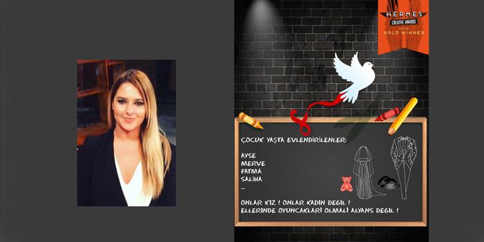 Alara Demirağ, Hermes Creative Awards'ta altın ödülünü kazandı