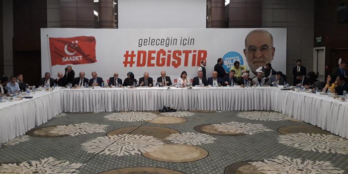 """Saadet Partisi'nin seçim sloganı belli oldu: """"Geleceğin için Değiştir"""""""