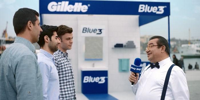 Kadir Çöpdemir mikrofonu Gillette Blue 3 için eline aldı