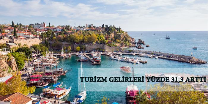 Turizm gelirleri yüzde 31,3 arttı