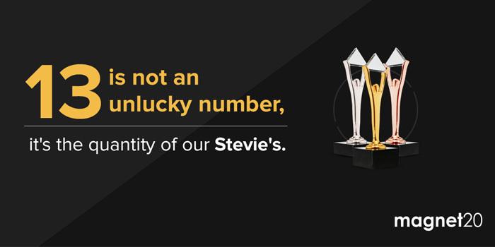 Stevie'den en çok ödül alan ajans Magnet20 oldu