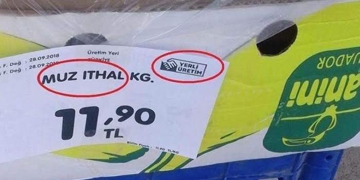 """""""Yerli Üretim"""" logosu etiketlerdeki yerini almaya başladı. Ama hatalarla!"""