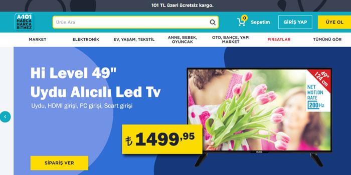 A101 online mağazasını kullanıma sundu