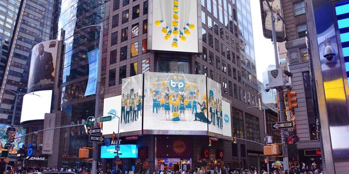 "Turkcell'in ""BiP"" reklamı Times Meydanı'nda…"