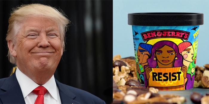 Ben & Jerry's dondurması Donald Trump'a karşı