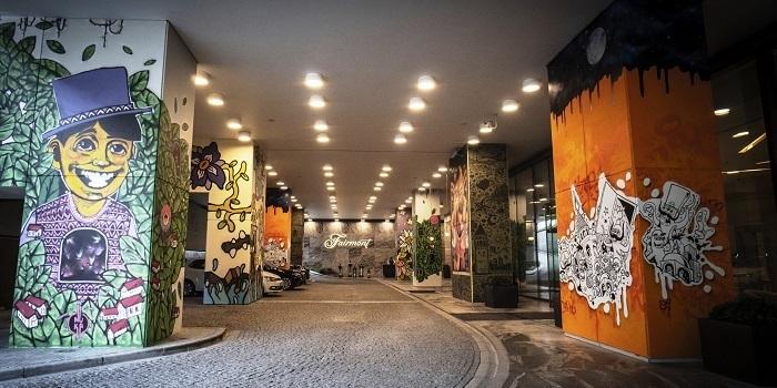 Graffiti sanatının yaratıcı dünyası Fairmont duvarlarında