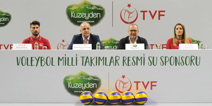 Türkiye Voleybol Federasyonu resmi su sponsoru Kuzeyden oldu