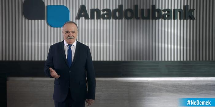 Anadolubank'ın reklam yüzü Çetin Tekindor