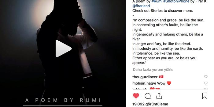 Apple Instagram hesabından Mevlana Haftası'na özel film yayınladı
