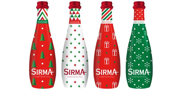 """Sırma 2019'u """"yılbaşı hediyesi"""" temalı şişeleriyle karşılıyor"""