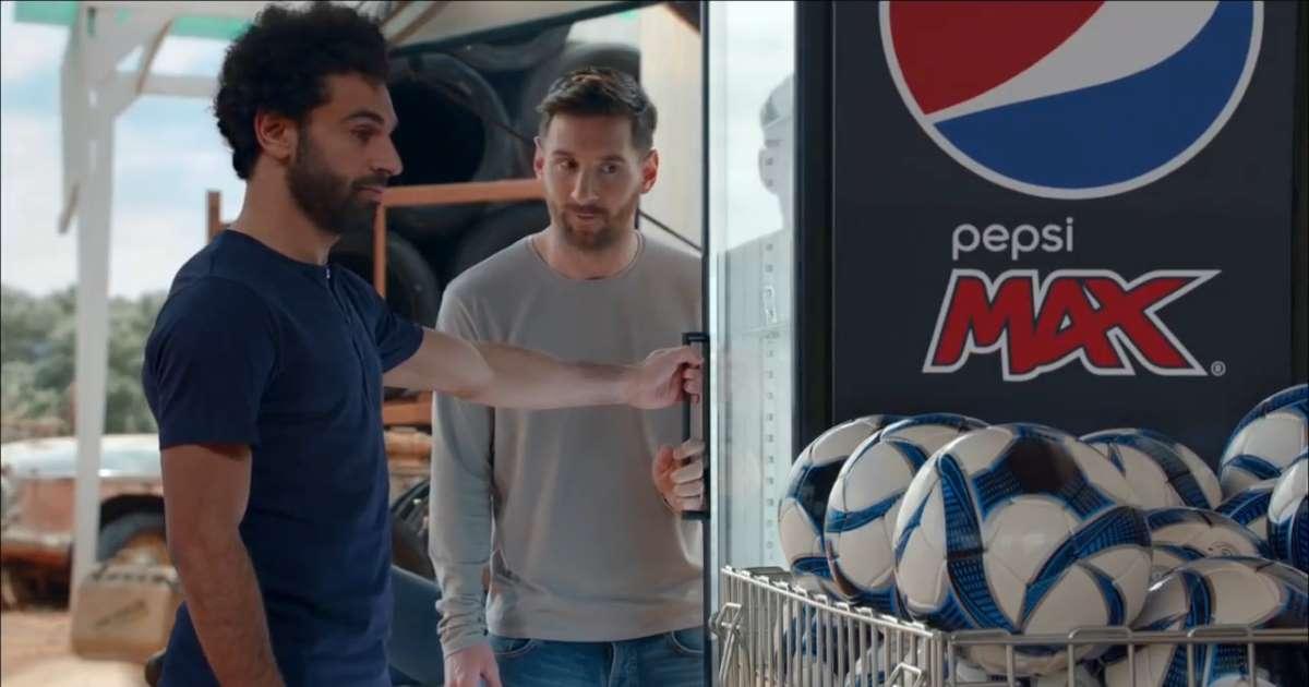 Leo Messi ve Mohamed Salah, Pepsi reklamı için bir araya geldi
