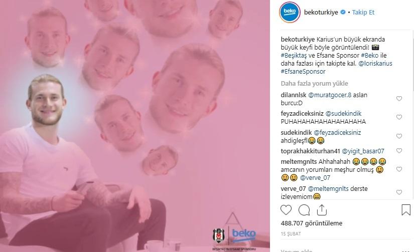 Beşiktaş, Beko ile artık Instagram Stories'te