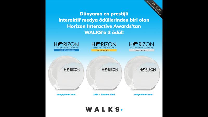 WALKS, Horizon Interactive Awards'tan üç ödül kazandı!