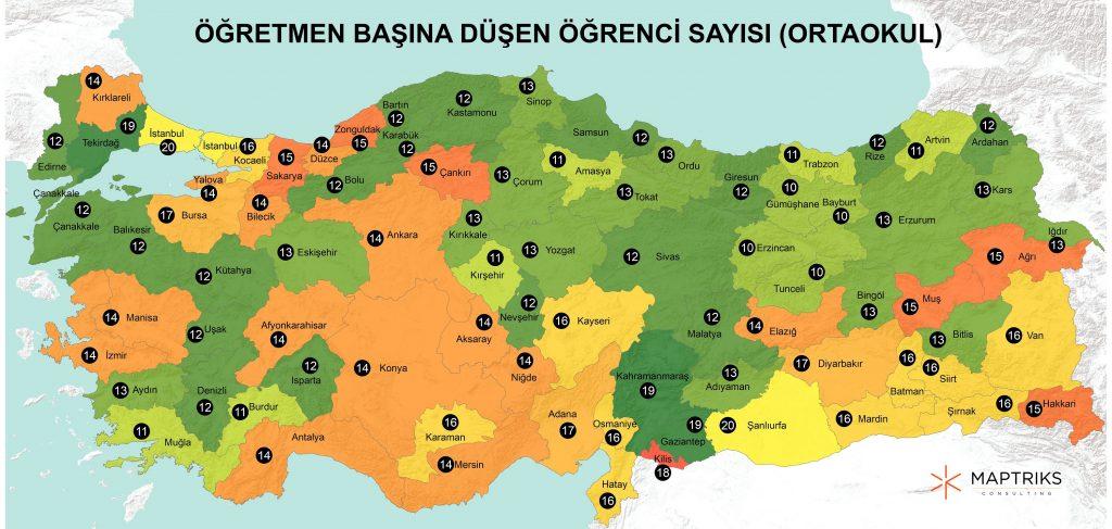 Türkiye'nin eğitim haritası açıklandı