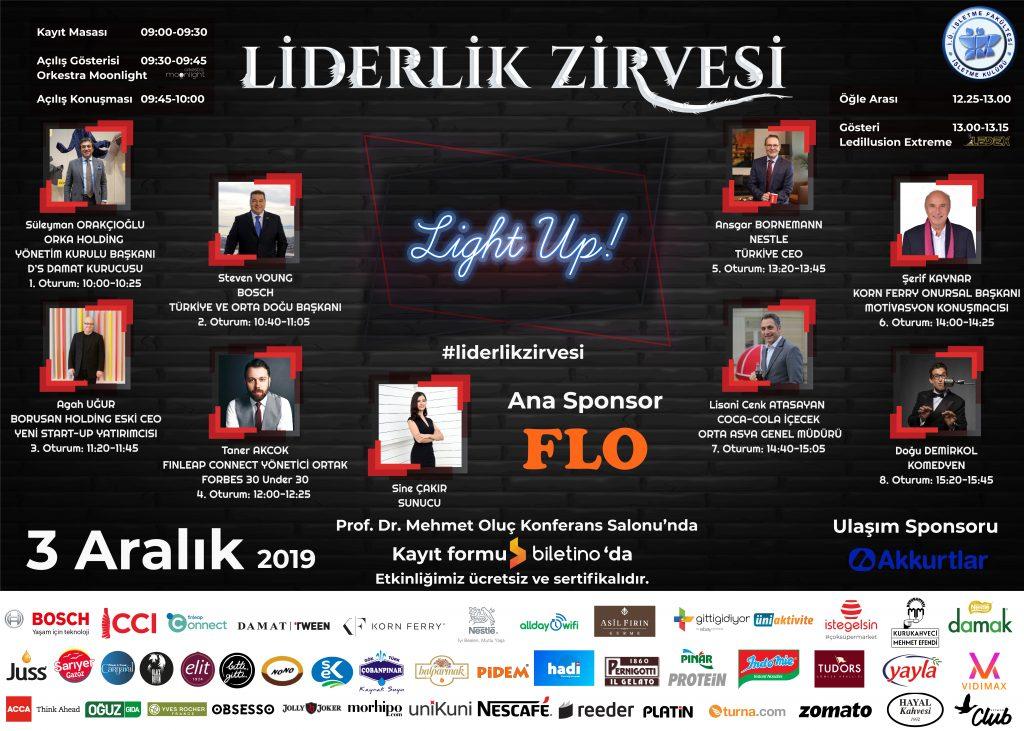 """Liderlik Zirvesi 3 Aralık'ta """"Light Up"""" mottosuyla katılımcıları bekliyor"""