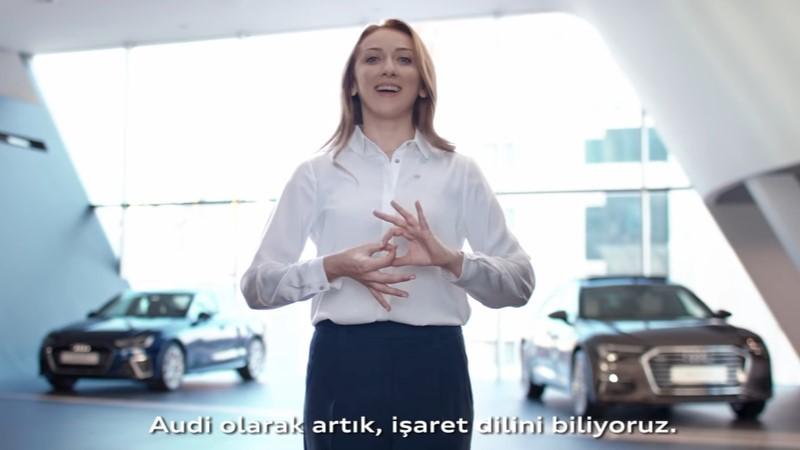 Audi işaret dilini öğrendi