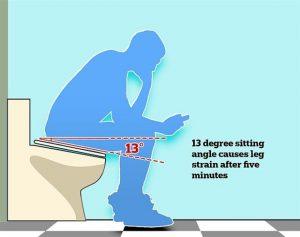 Çalışanlar uzun süre tuvalette vakit geçirmesin diye eğimli klozet tasarlandı