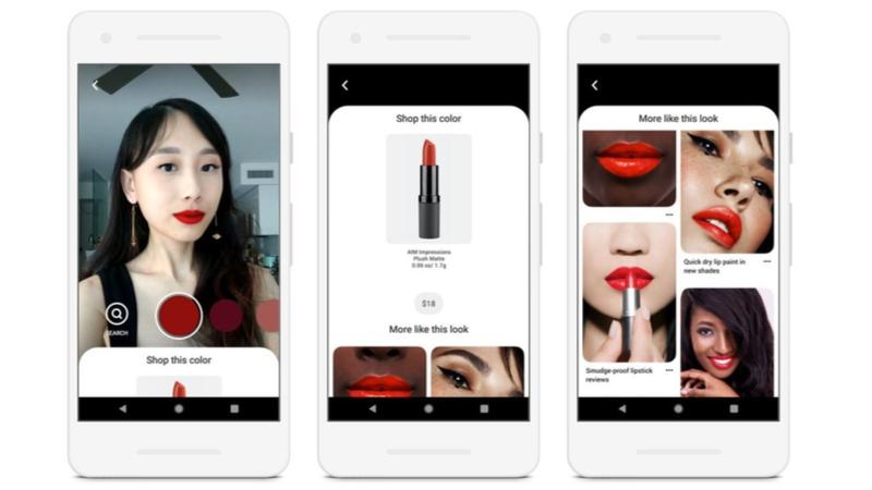 Pinterest AR makyaj sektörüne adım attı