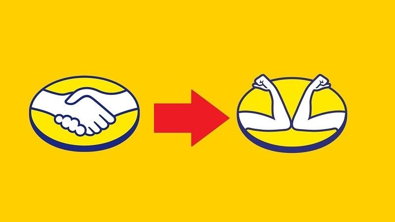 Mercado Livre el sıkışan logosunu coronavirüs nedeniyle dirsek temasına dönüştürdü