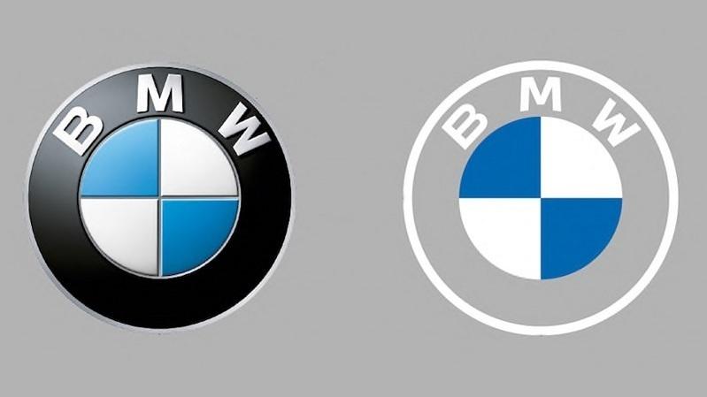 BMW logosunu değiştirdi