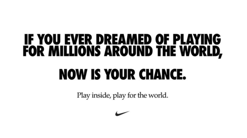 """Nike'tan """"Evde hareket et, dünya için hareket et"""" çağrısı"""