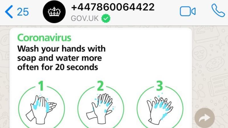 İngiliz Hükümeti, koronavirüsle ilgili halkı WhatsApp üzerinden bilgilendirecek