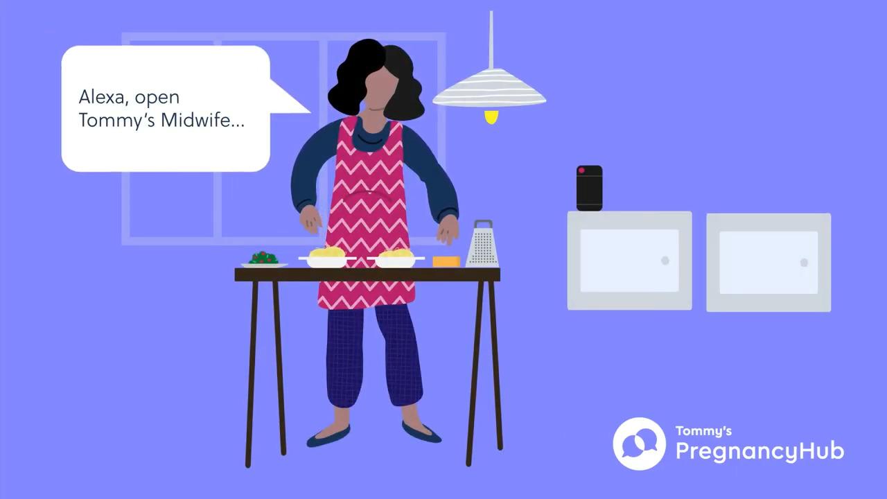 """Tommy's, ebeveynlerin koronavirüs kaygısını hafifletmek için Alexa destekli """"Ebe"""" uygulamasını başlattı"""