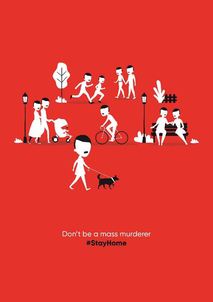 """M.A.R.K.A. koronavirüsün korkutan yüzünü """"#StayHome"""" ilanlarıyla gözler önüne seriyor"""